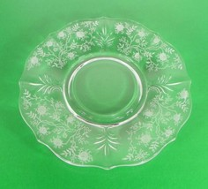 Fostoria CHINTZ Mayonnaise Underplate ONLY Etched Floral Baroque Retired - $9.89
