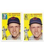 1954 Topps Archives Jim GreenGrass Cincinnati Redlegs #22 Gold & Regular... - $1.28