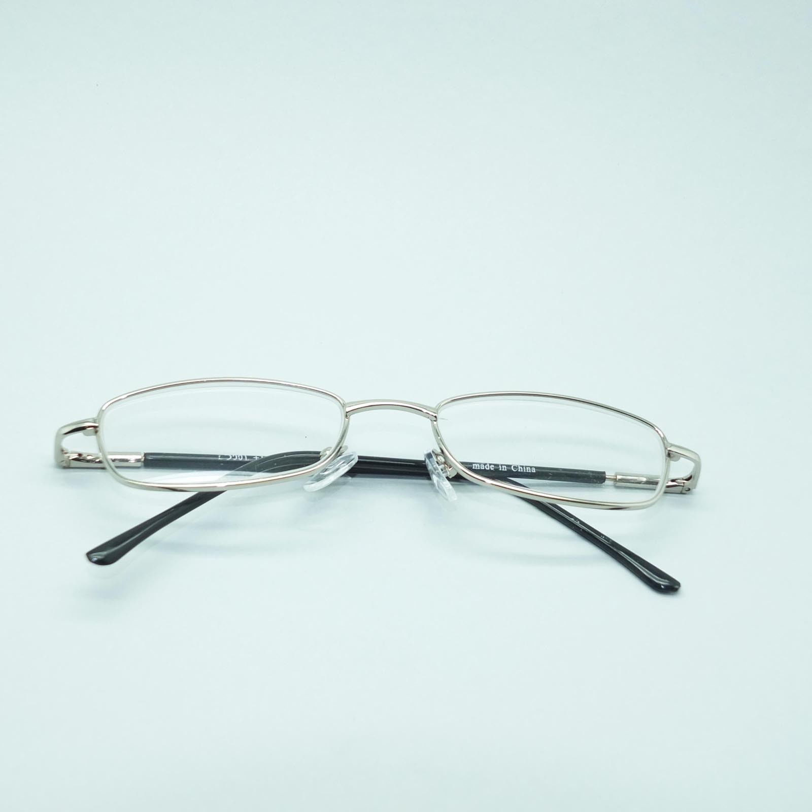 Reading Glasses Low Profile Silver Frame Lightweight Spring Temples +3.00 Lens image 4