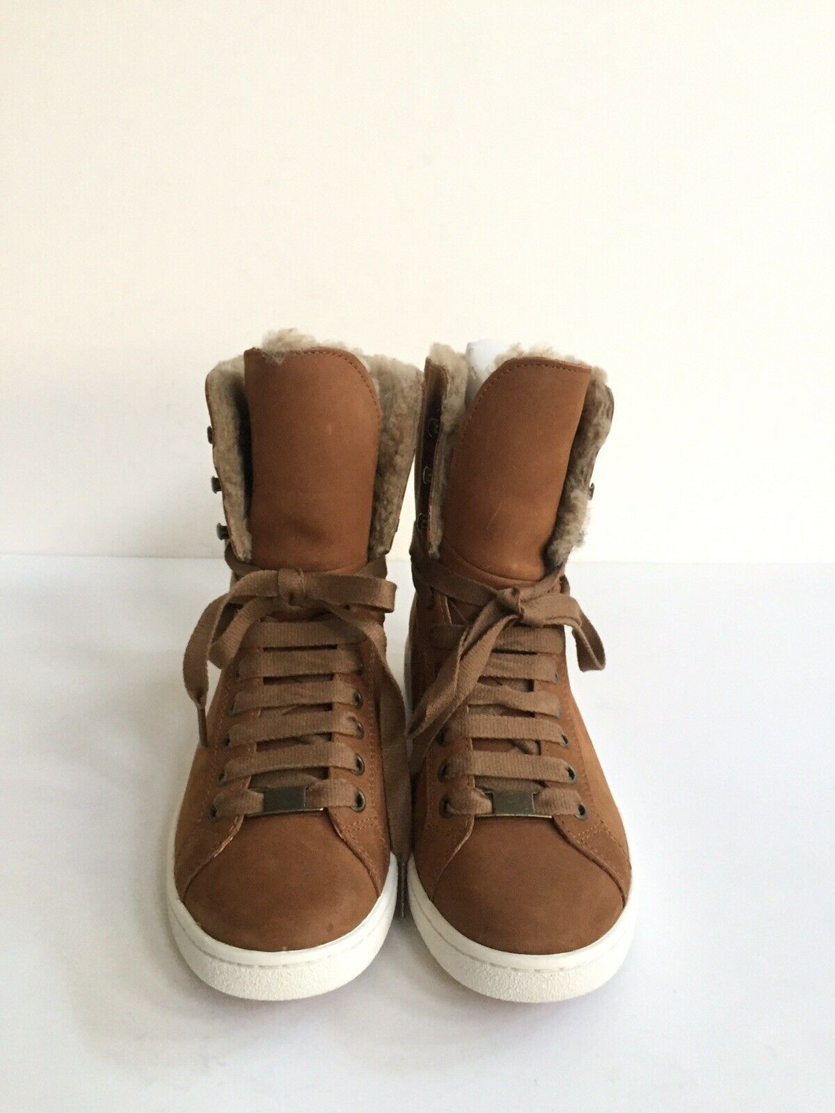 UGG STARLYN CHESTNUT ANKLE SNEAKERS LEATHER SHOE US 9.5 / EU 40.5 / UK 7.5 NIB image 3