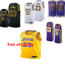 LeBron James 23 Los Angeles Lakers Men's Sewn Jerseys free shipping - $29.45