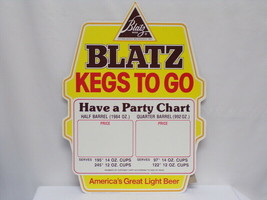 """ORIGINAL Vintage 1981 Blatz Beer Kegs to Go 14x19"""" Advertisement Sign - $46.39"""