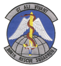 """4"""" Air Force 308TH Rescue Squadron Ut Ali Vivant Embroidered Patch - $23.74"""