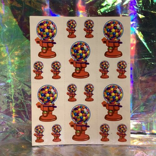 VTG Lisa Frank Complete Sticker Sheet GUMBALL MACHINE! Rare HTF S157 QuickSHIP
