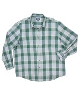 NEW CLUB ROOM GREEN/GRAY HARLENDALE PLAID FLANNEL BUTTON DOWN SHIRT SIZE... - $8.90