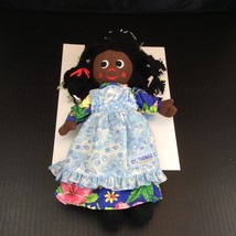 "St Thomas Virgin Islands Souvenir Cloth Doll Girl Black Brown Dark Skin 13"" - $15.79"