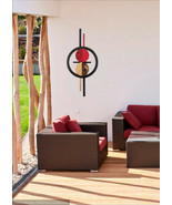 Mid-Century Modern Circle Wall Sculpture, Contemporary wall art  36x22 b... - $118.79