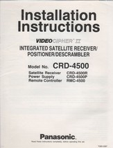 Pansonic Videocipher II Model No. CRD-4500 Integrated Statellite Receive... - $5.00