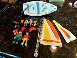 RARE VINTAGE 1993 PLAYMOBIL #3774 FAMILY SAILBOAT GERMANY 99% Complete - $119.94