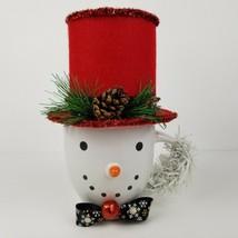Royal Norfolk Christmas Tophat Snowman Coffee Mug / Table Centerpiece - ... - $20.94