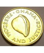 Gem Sorti Circulation Ghana 1984 Cedi ~Excellent~ Cauris Coque - $4.09