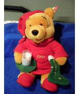 "Disney Winnie the Pooh With Milk Cup Plush New 13"" Tall candle light up ... - $15.88"