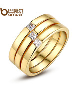 Oer 2017 new fashion luxury gold color finger set ring for women ladies with aaa cubic thumbtall