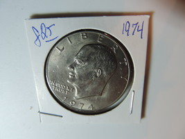 1974 US American Dollar  coin A851 - £4.88 GBP