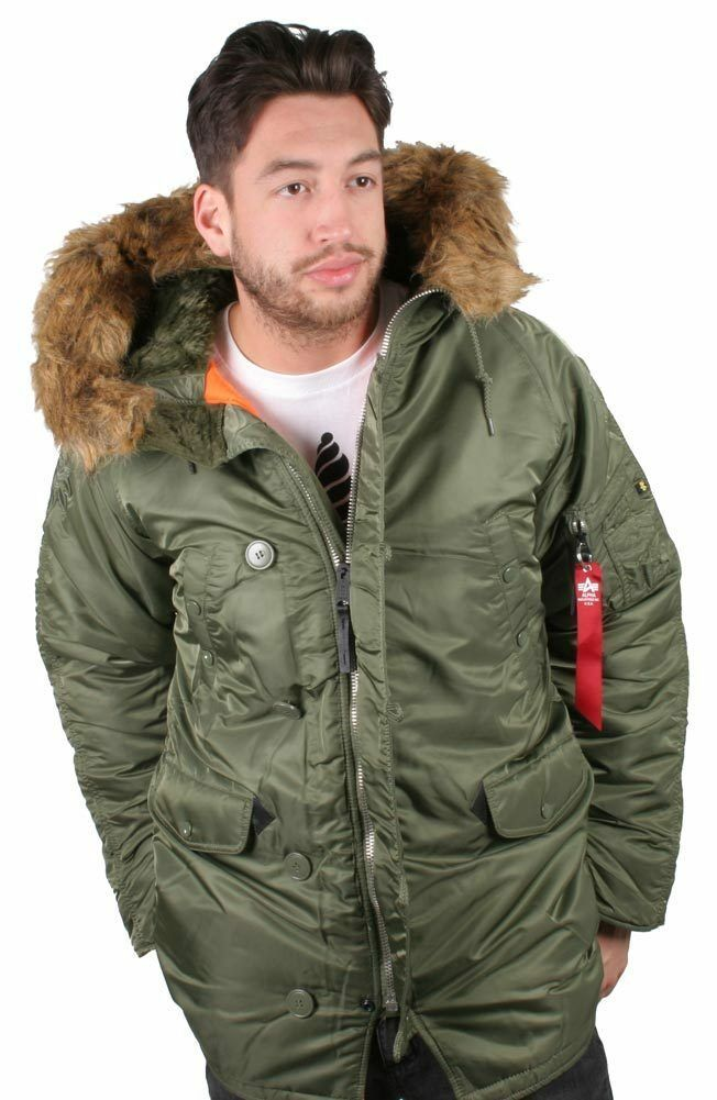Crooks and Castles with Alpha Industries Faux Fur Hooded Flight Jacket NWT