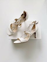 ✨New Vince Camuto Payto Leather Heel Sandals Pure Womens Size 8.5M $150 Nwob - $48.91