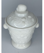"Westmoreland Milk Glass ""Berry"" Pattern Covered Sugar Bowl - $15.79"