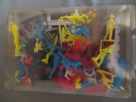 Lot Vintage Cowboy & Indians Toy Figures with Horses Multi Colors - $8.90
