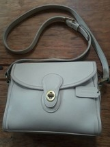 vintage cream leather turnlock coach purse - $49.50