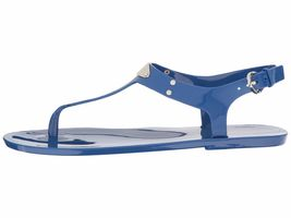 Michael Kors MK Premium Plate Jelly Thong Rubber T-Strap Shoes Sandals image 15