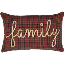 "Tea Star FAMILY Pillow - 14""x22"" - VHC Brands - Country Farmhouse Style"