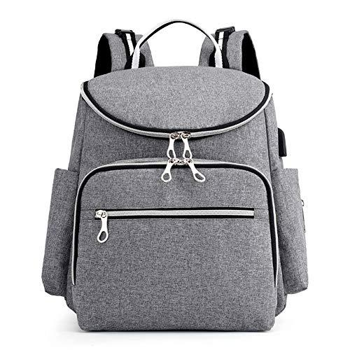 NUTK Baby Diaper Bag Backpack with Changing Pad and Insulated Cooler Pocket,Wate