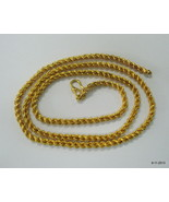 ethnic 20k gold chain necklace from rajasthan india - $569.25