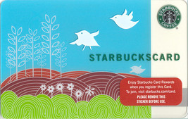 Starbucks 2009 Swallow's Song Collectible Gift Card New No Value - $7.99
