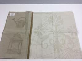 """Le Jacquard Francais Tea Towel Primrose Bordier Jardin de Paris 31x24"""" T... - $25.74"""