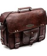 Vintage Mens Leather Business Briefcase Handbag Laptop Shoulder Messenge... - $58.93+