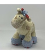 "Baby Gund Plush Woodles Gazoo Giraffe Yellow Blue Tan Rattle Stuffed Toy 7"" - $11.50"