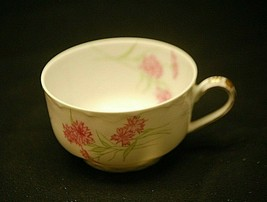 """Antique Haviland Limoges France 2"""" Footed Coffee Tea Cup Pink Cornflower b - $16.82"""