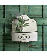 Country 2PC BOWED BATH WALL CADDIE SET Farmhouse Rustic Primitive Bathroom - $73.99