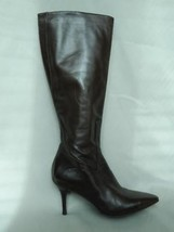 Cole Haan Boots Tall Knee Brown Leather Heel Point Toe 6 1/2 - $59.35