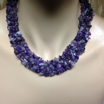 Elegant, Amethyst Chips 18in Beaded Necklace - $47.45