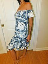 Cinq à Sept - Minella Off-The-Shoulder Scarf-Print Dress - Size 2 NWT image 5
