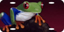 """Tree Frog Airbrushed Design Auto License Plate Colorful 12""""x6"""" QUALITY A... - $18.05"""