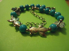 BEES BEADS BUTTERFLY BRACELET   >> COMBINED SHIPPING <<  (11488) - $3.75