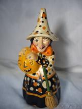 Vaillancourt Folk Art Witch Holding a Pumpkin Signed by Judi Vaillancourt - $259.99