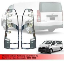 Tail Light Rear Lamp Cover Trim Chrome For Toyota Hiace Commuter 2019 2020 - $67.01
