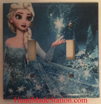Frozen Elsa snow star Light Switch Toggle Rocker Duplex Outlet wall Cover Plate  image 5