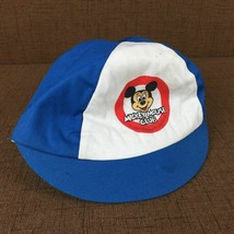 Vintage Mickey Mouse Club Children's Large Baseball Cap Blue White Disney - $15.74