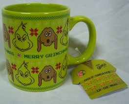 Dr. Seuss THE GRINCH WHO STOLE CHRISTMAS CERAMIC MUG NEW - $16.34