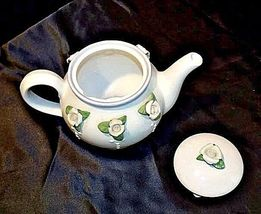 Ceramic TeaPot with Lid White Ceramic Teapot  AB 535-C Vintage image 4