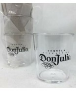 Pack Of 10~Don Julio Tequila Logo Shot Glasses Set Clear Plastic Acrylic... - $10.49