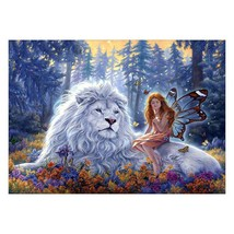5D DIY Full Drill Lion Diamond Painting Embroidery Cross Stitch Kit Home... - $4.00