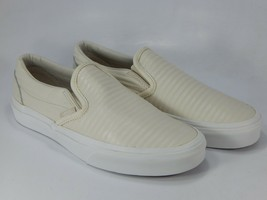 VANS Classico Slip On Taglie 7 M EU 37 Donna Moto Pelle Skate Shoes VN-0... - $49.84