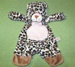 "Baby Ganz Flat A Pat Leopard Plush Security Blanket Pink Tummy 17"" Soft Lovey - $34.65"
