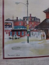Ranulph Bye Railroad Station Vintage Watercolor Print  Matted & Framed Print Sig image 2