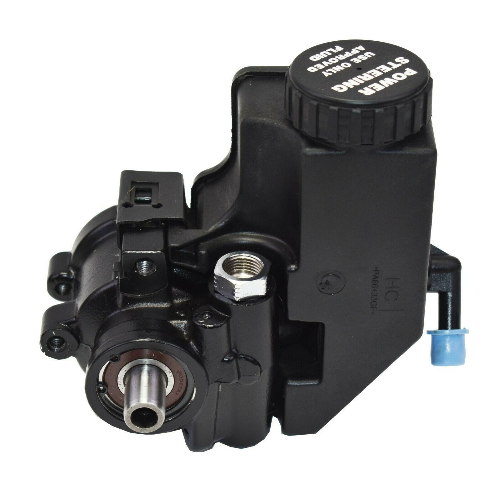 Power Steering Pump GM Aluminum Type II with Integral Reservoir (Black)
